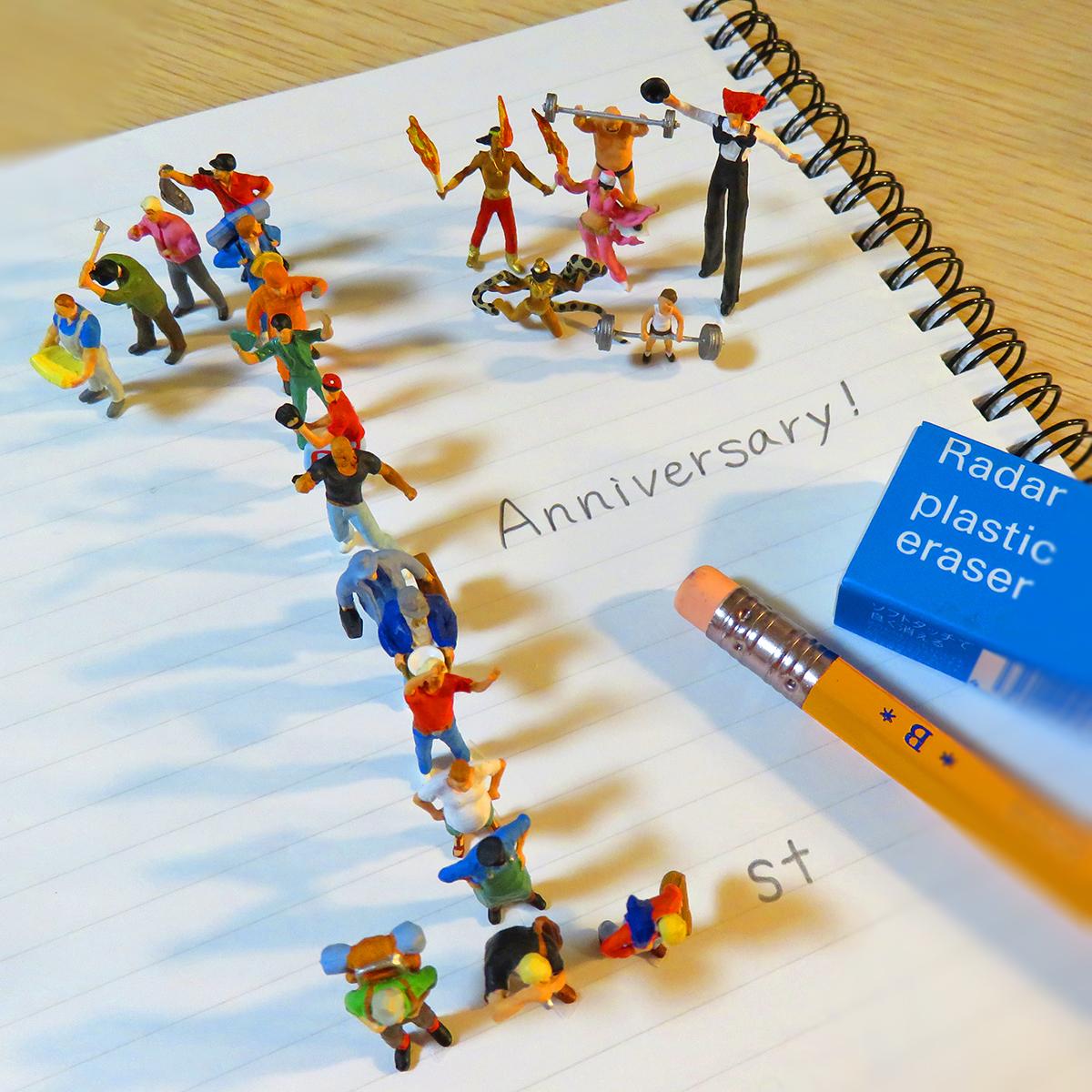 9月22日でミニチュアジオラマ活動が1年経ちました!ありがとうございまッス!