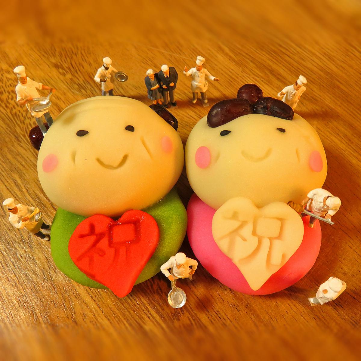 9月18日は敬老の日!創作和菓子を作る料理人たちと楽しみに待つ老人夫婦