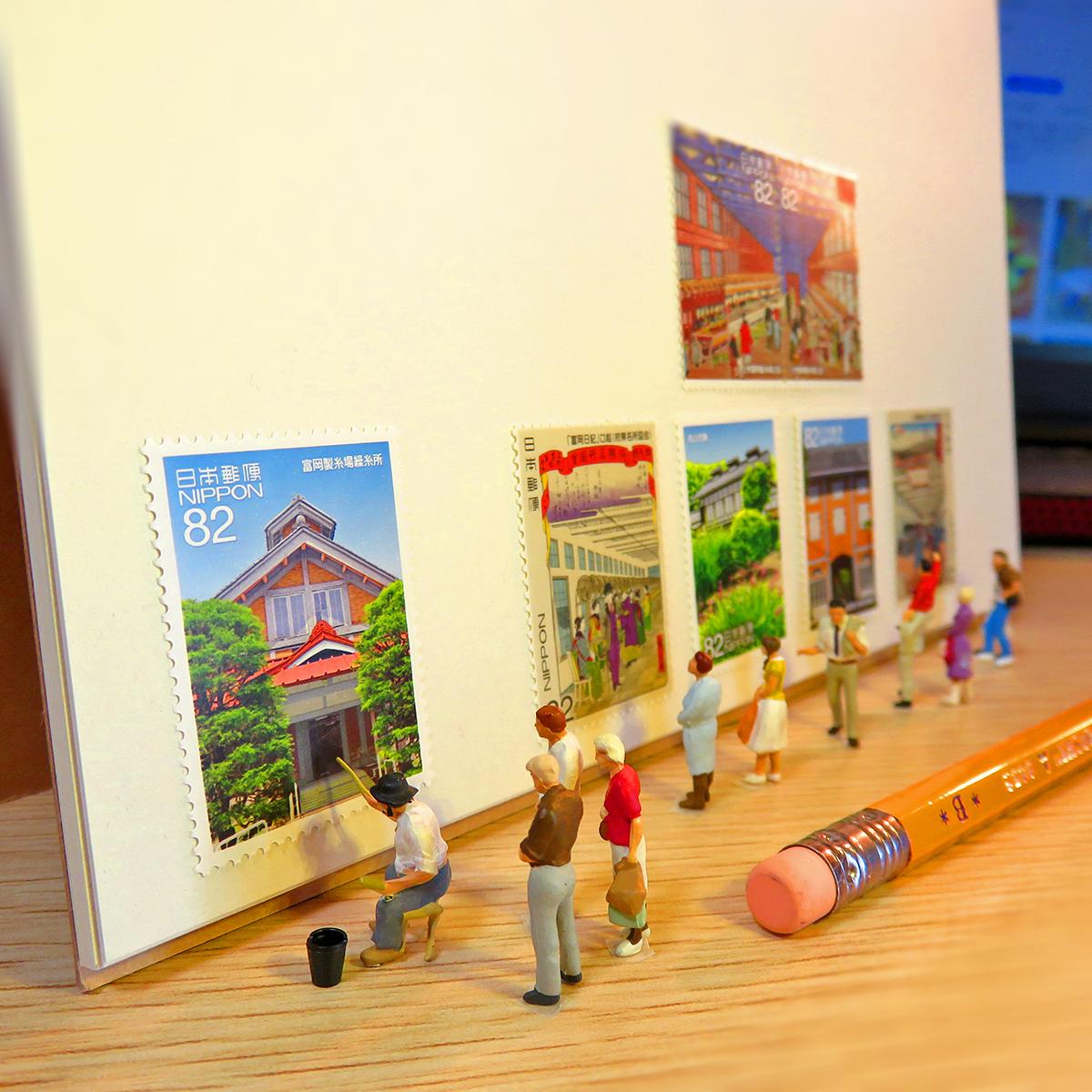4月20日は郵政記念日!画家アルフォートさんの風景切手の展示会