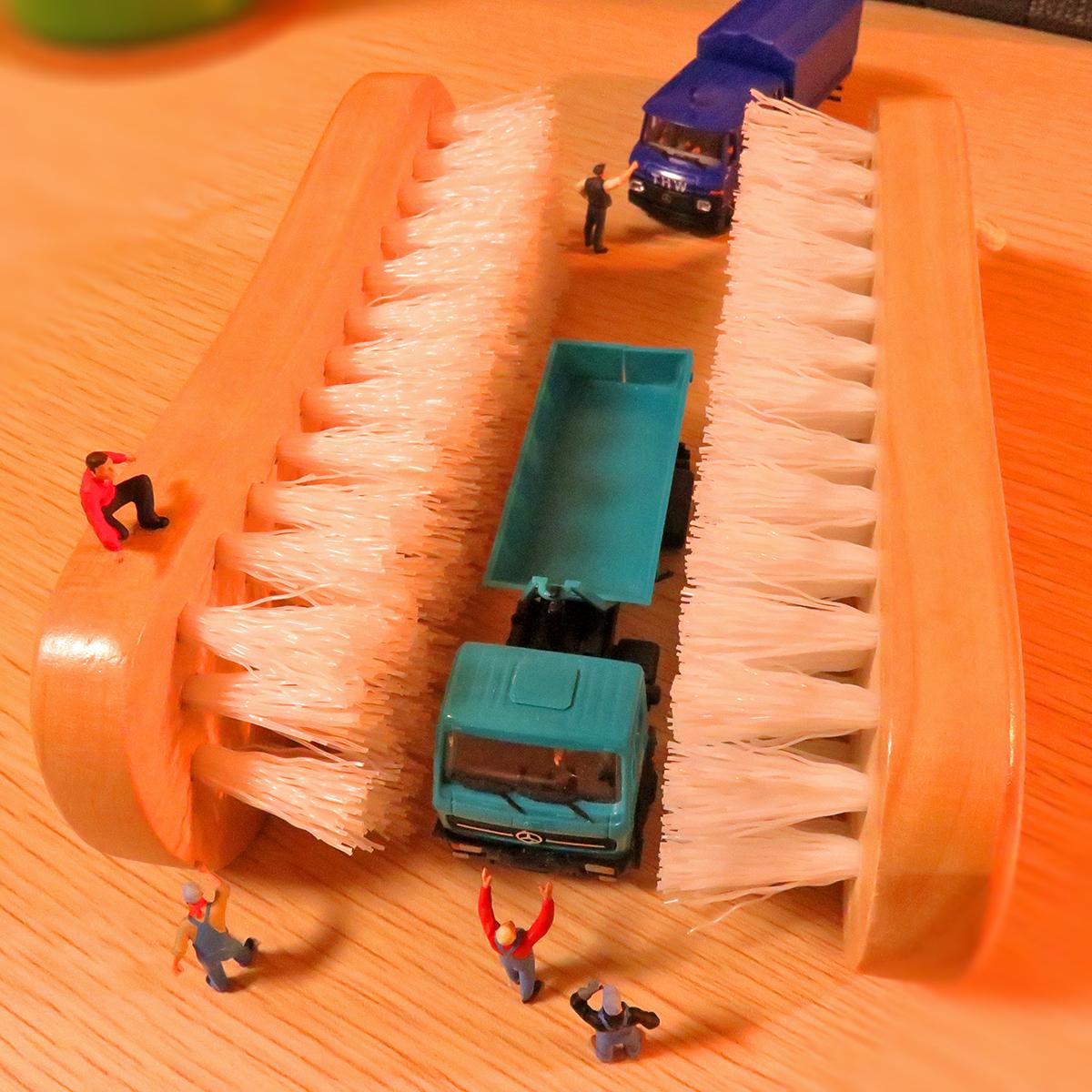 タイルブラシ洗車機