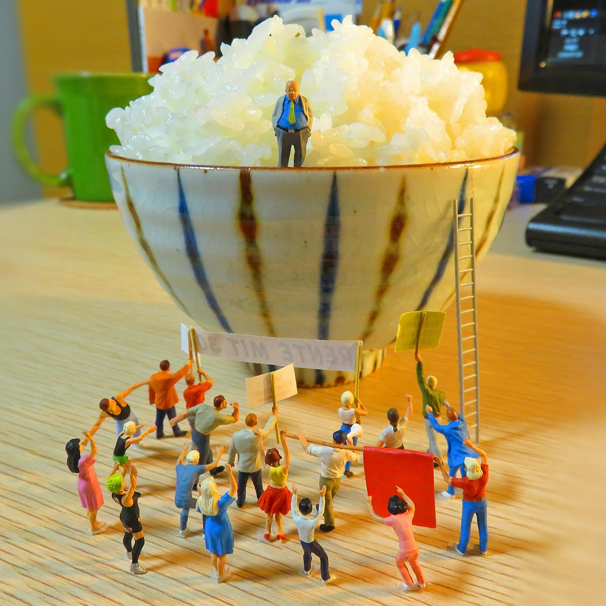 7月23日は米騒動の日!ご飯を独り占めする富裕層とデモをする人達