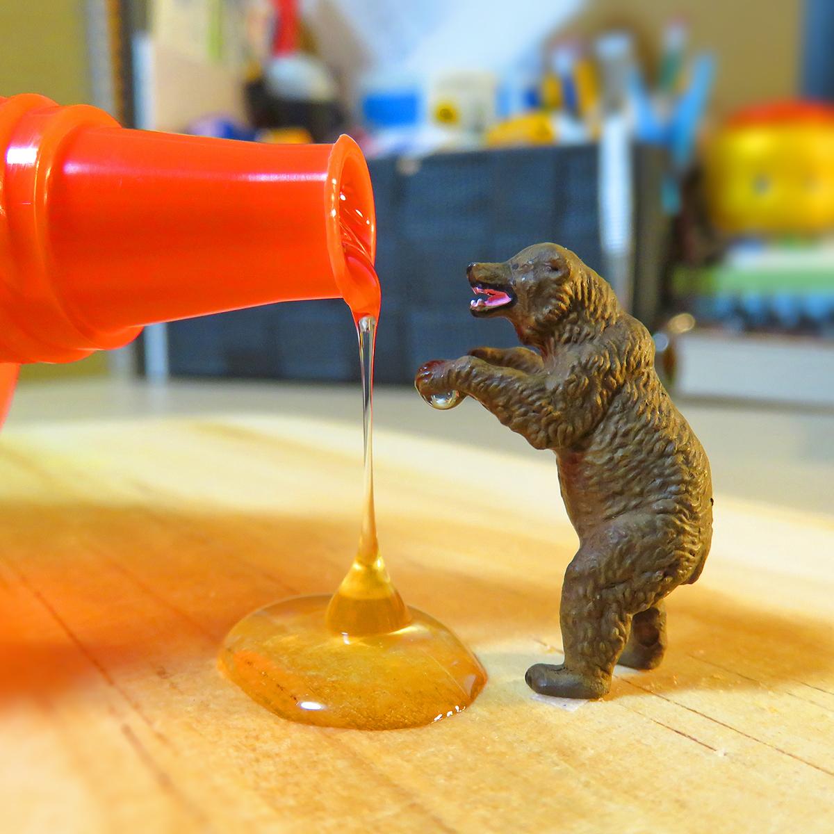 8月3日ははちみつの日!はちみつを食べる熊