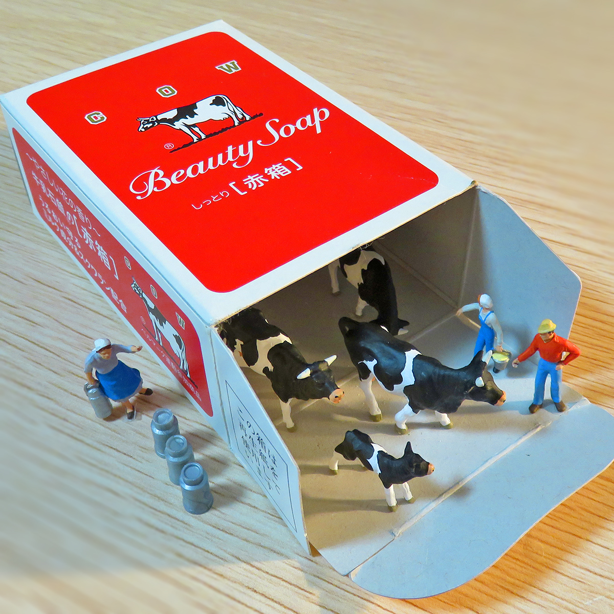 赤箱の牛小屋で育った牛とカウブランド酪農家
