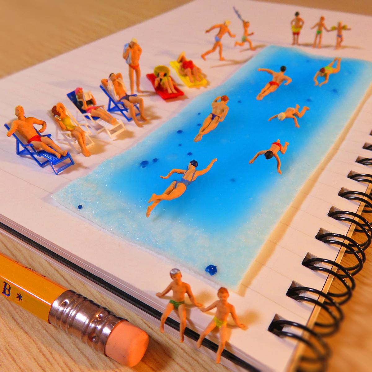 冷えピタのサンセットビーチで楽しむ人達