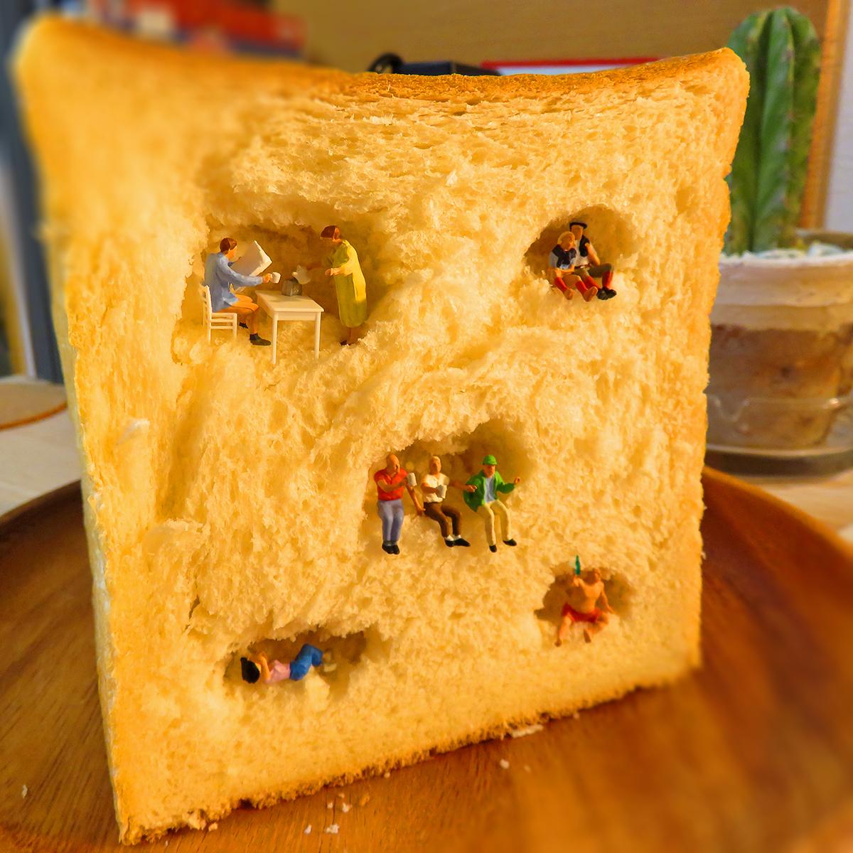 食パンを切ったら小さな住人達が暮らしていた!